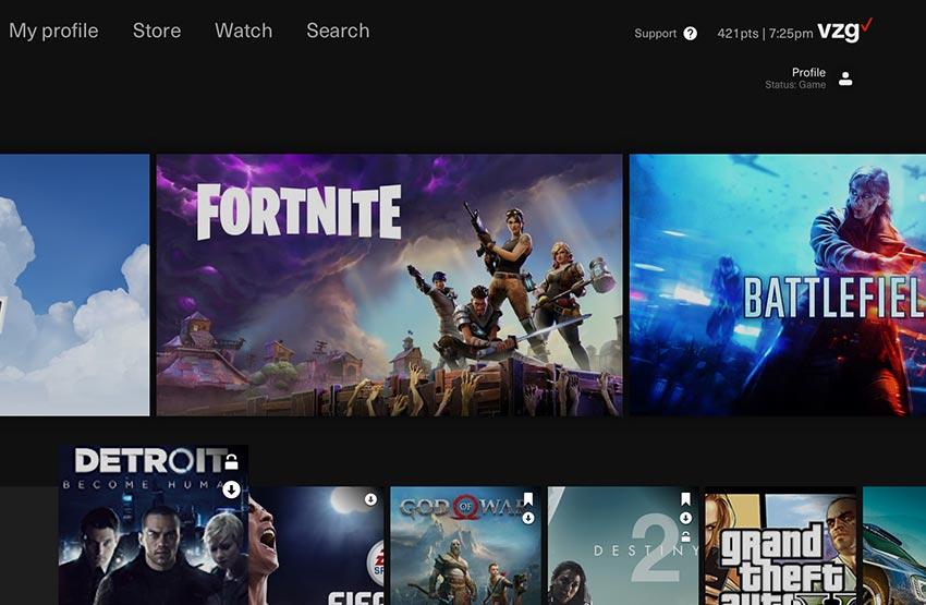Verizon Gaming game streaming