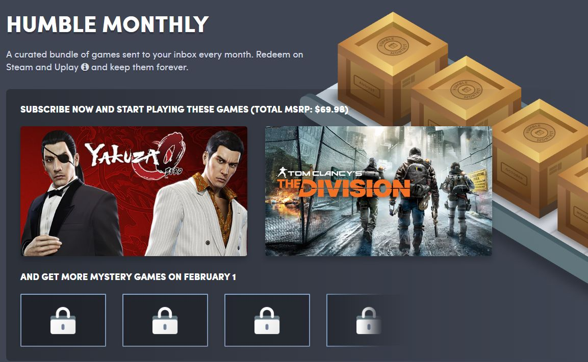 Photo of A fost anunțat un nou Humble Monthly Bundle
