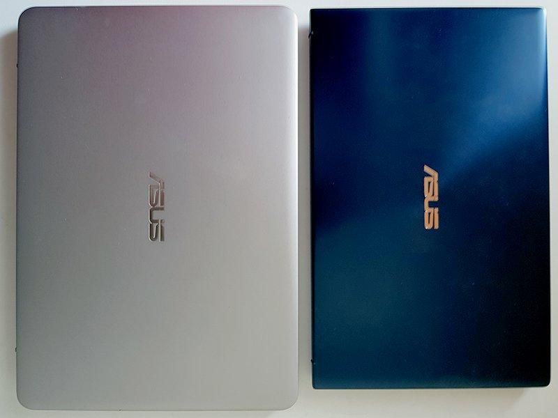 În stânga UX305, în dreapta, noul UX333, de dimensiunea unei foi A4!