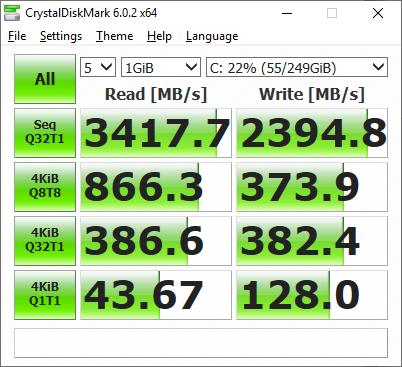 SSD-ul de 1TB funcționează ireproșabil