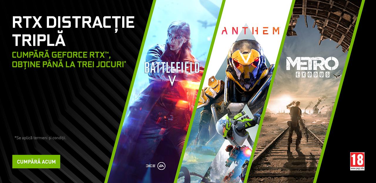 Photo of Bundle-ul Triple Threat cu plăci grafice RTX și jocurile Metro Exodus, Anthem și Battlefield V este disponibil începând de azi