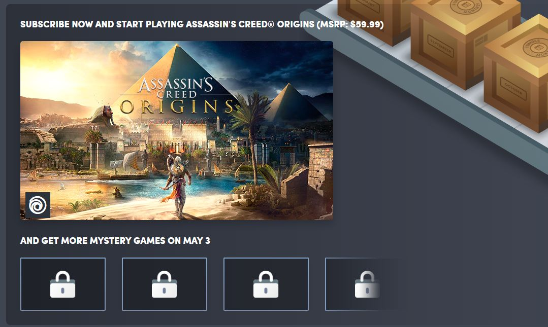 assassin's creed origins humble monthly bundle