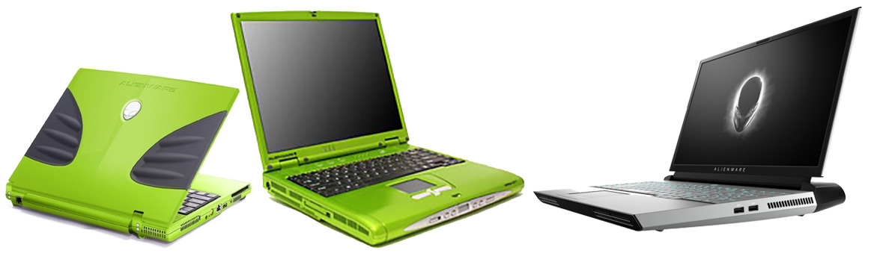 17 ani de istorie a laptop-urilor Alienware în 3 imagini: primul model, din 2002 vs cel mai nou reprezentant al Zonei 51, din 2019