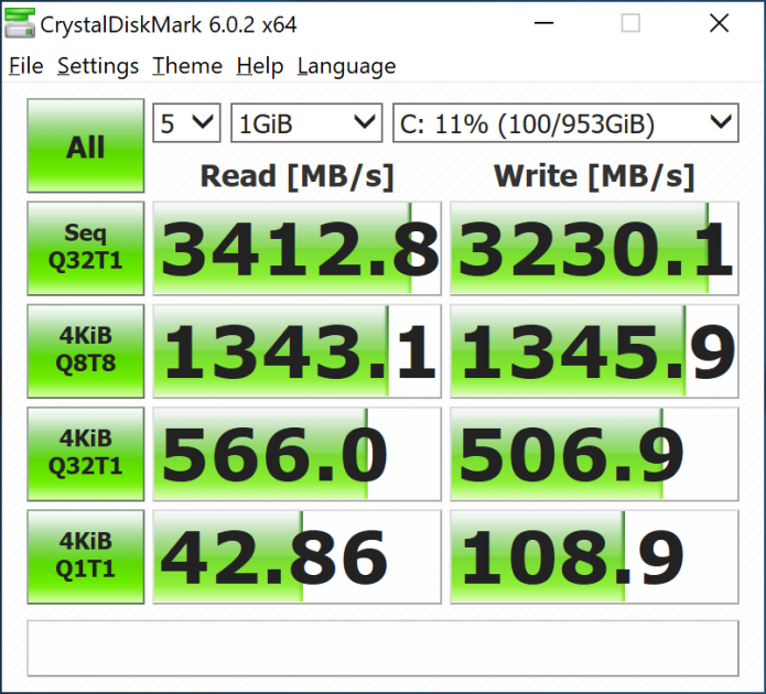 2 x 512 GB SSD in RAID 0. Mai e ceva de adăugat? Speed.