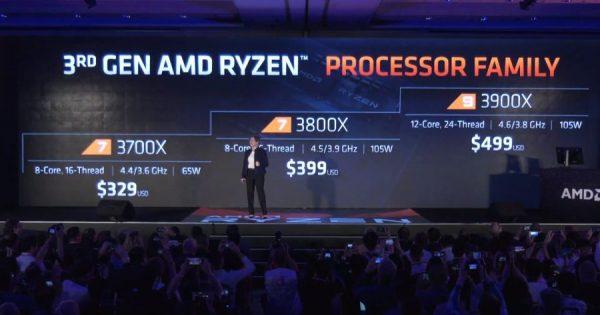 AMD anunță noile procesoare Ryzen 3000