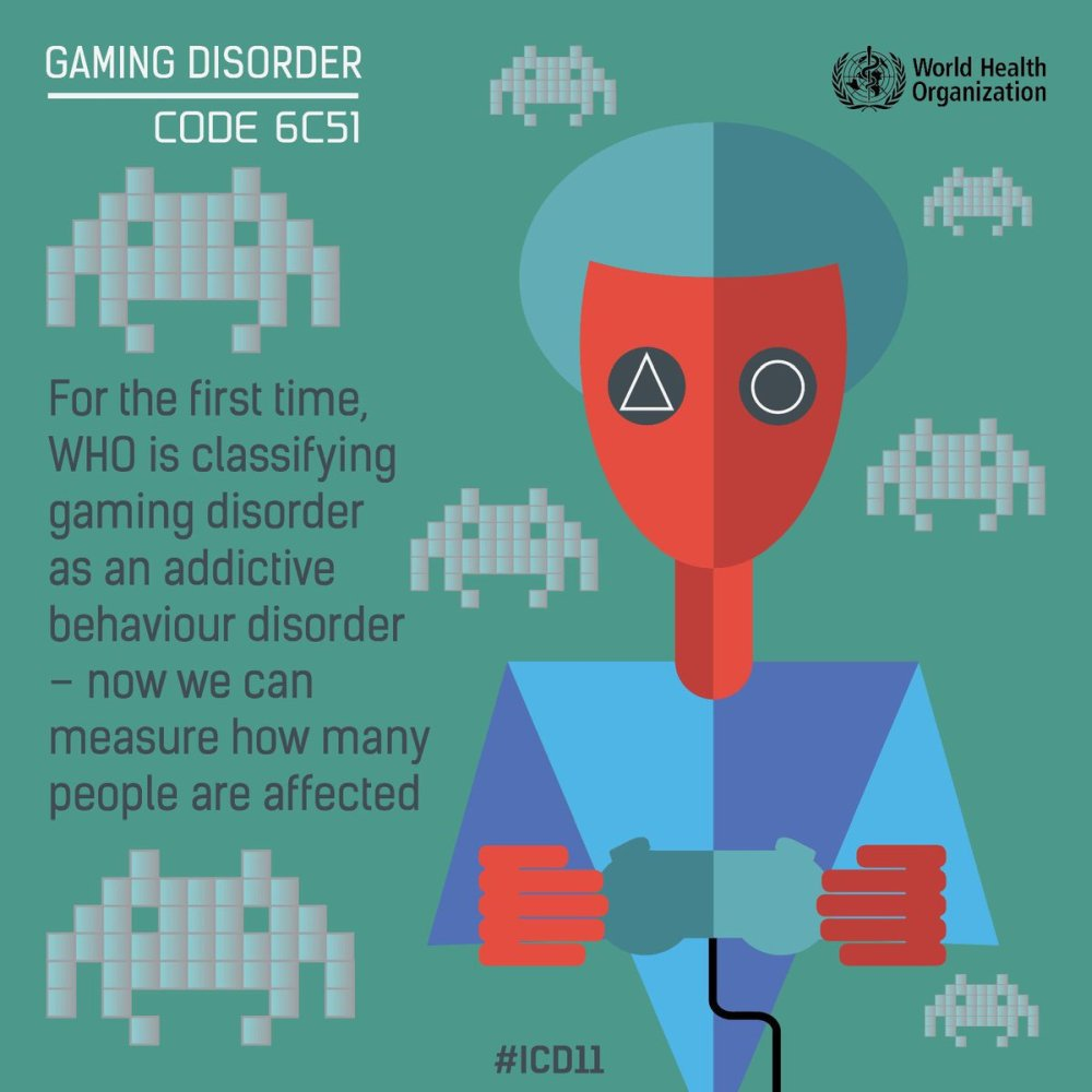 gaming disorder hazardous gaming WHO