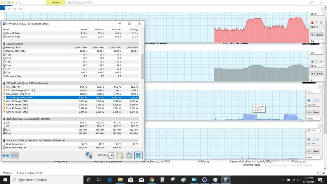 procesorul AMD Ryzen 7 3750H pe arhitectura Zen+ are o raport excelent performanță/watt.