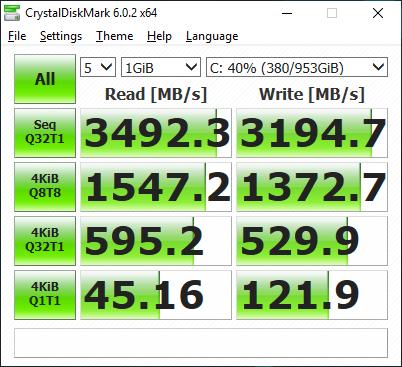 SSD-urile sunt în RAID 0, dar viteza lor rămâne limitată de interfața PCI2 4x.