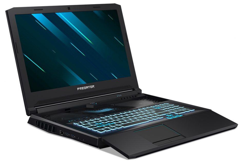 Acer Predator Helios 700 - un design neobișnuit, dar care are sens: ergonomie, răcire îmbunătățită.