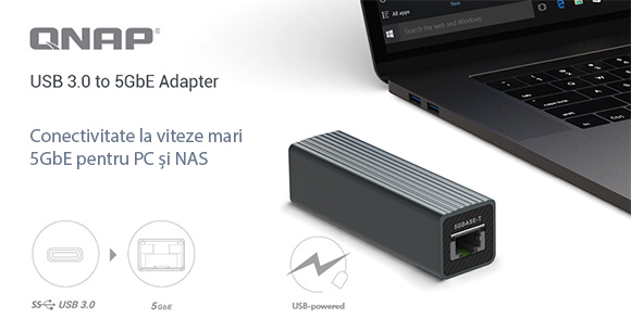 Photo of QNAP prezintă adaptorul QNA-UC5G1T USB 3.0 la 5GbE pentru conectivitate 5GbE/2.5GbE/1GbE/100MbE