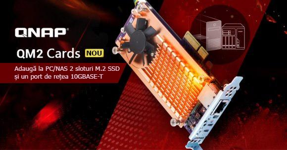 Photo of QNAP a introdus noile plăci QM2 PCIe pentru PC/NAS ce oferă două sloturi M.2 SSD și unul 10GbE