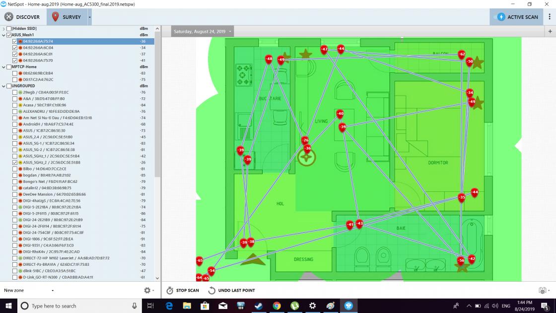 Am măsurat în peste 12 punte cele două soluții - soluția single router versus soluția kit (2 buc) AiMesh. În câteva scenarii AiMesh strălucește cu adevărat.