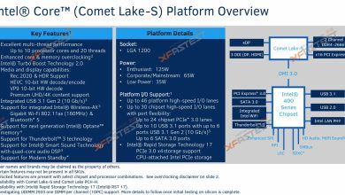 Photo of Intel Comet Lake-S ar putea aduce 10 nuclee anul viitor