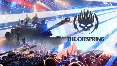 Photo of The Offspring sustin un concert in World of Tanks