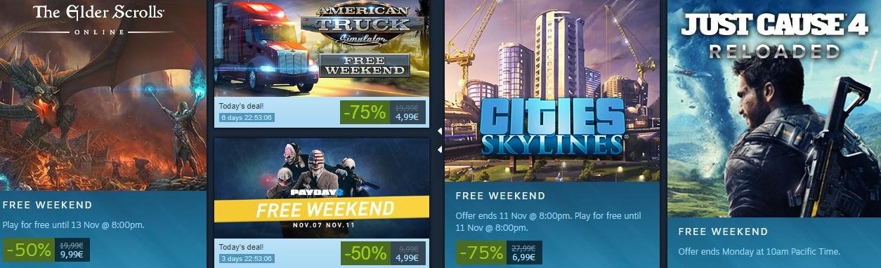 Steam weekend