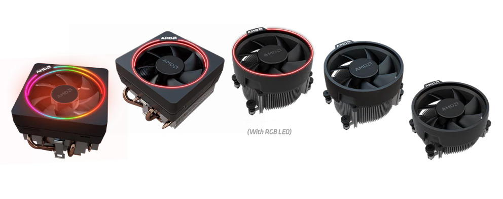 AMD Wraith Cooler Line-Up