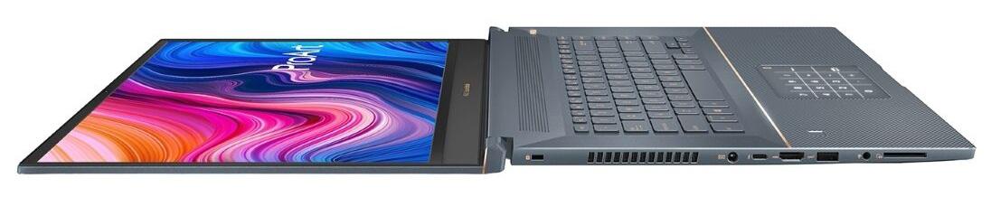 ASUS ProArt StudioBook Pro 17 W700G2T: rabatare ecran la 180 grade