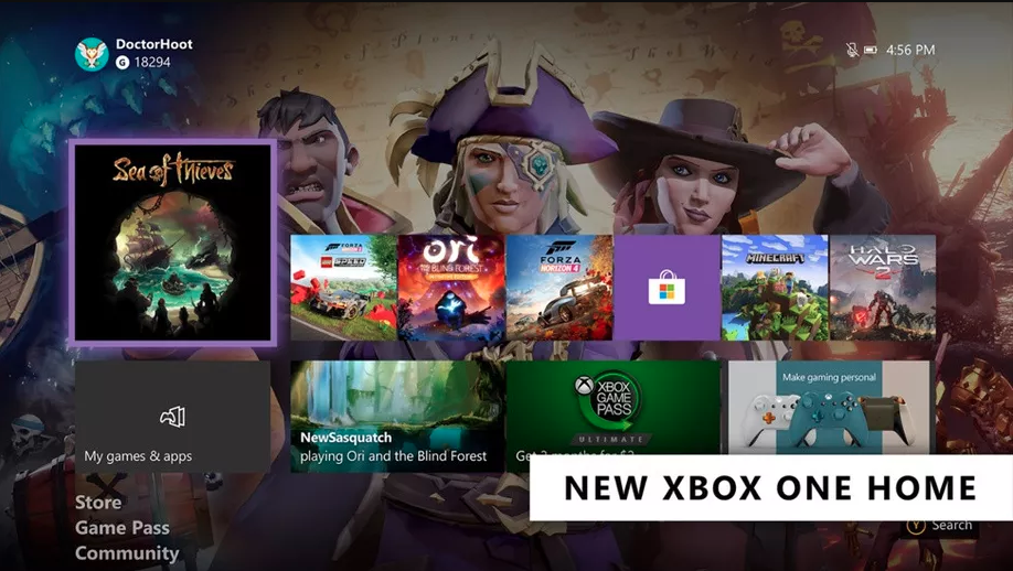 Xbox One February 2020 Dashboard Update
