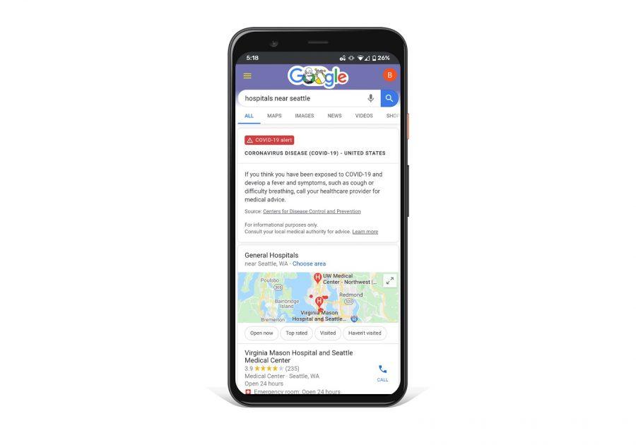 Google Coronavirus Website