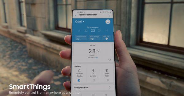 Samsung Galaxy Note 20 a fost strecurat intr-o reclama la aer conditionat