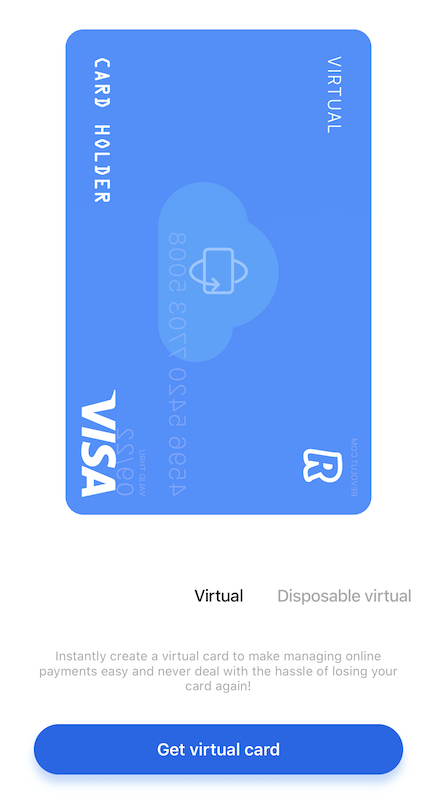 Card Virtual Revolut