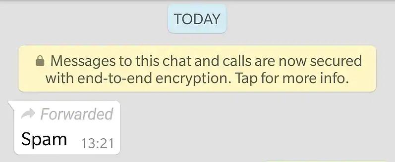 WhatsApp Forwarded Label