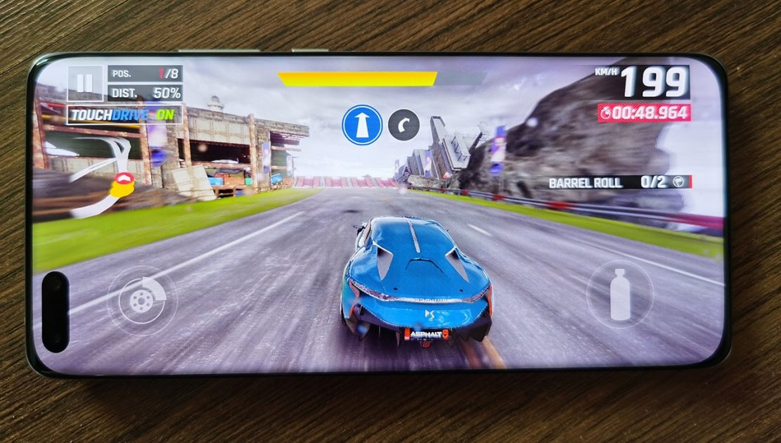 Huawei P40 PRO - Punch hole in games
