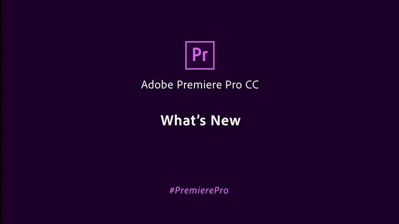 Adobe Premiere Pro May 2020 Update