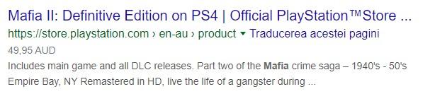 Mafia 2: Definitive Edition PS Store Australia