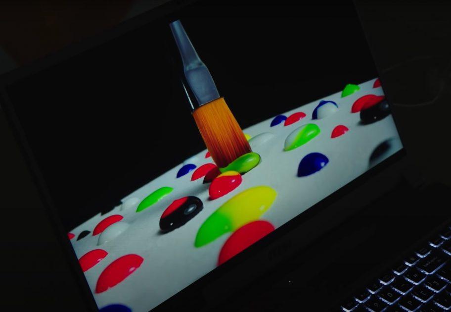 Mini LED display în acțiune pe MSI Creator 17: captură dintr-un material HDR, imaginea din păcare nu reflectă ce am văzut noi pe laptop :).