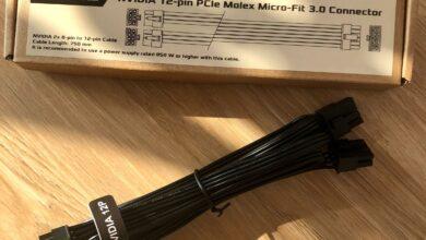 Seasonic adaptor 12-pin NVIDIA RTX 3000