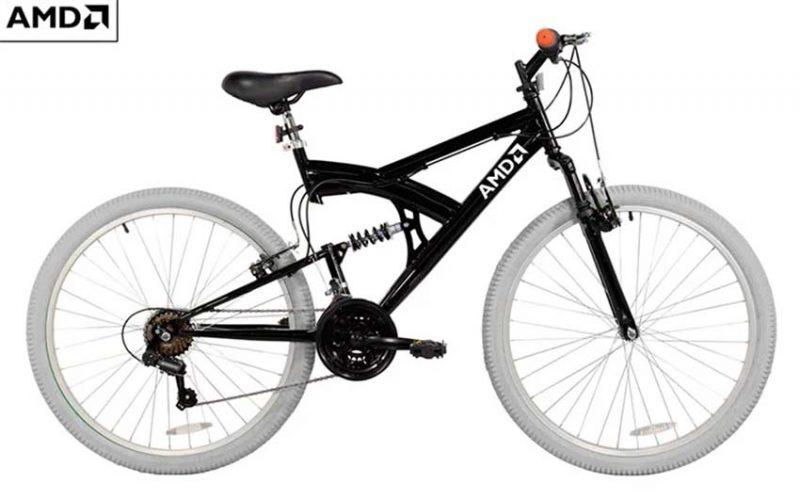 AMD Mountain Bike Black White