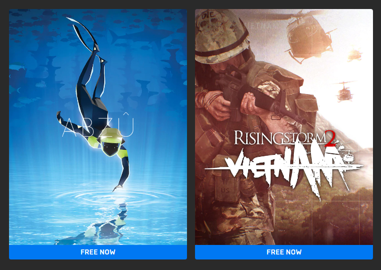 Epic Games Store Free Octombrie 2020 ABZU Rising Storm 2 Vietnam