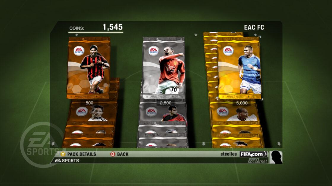 FIFA 2009 Ultimate Team Packs