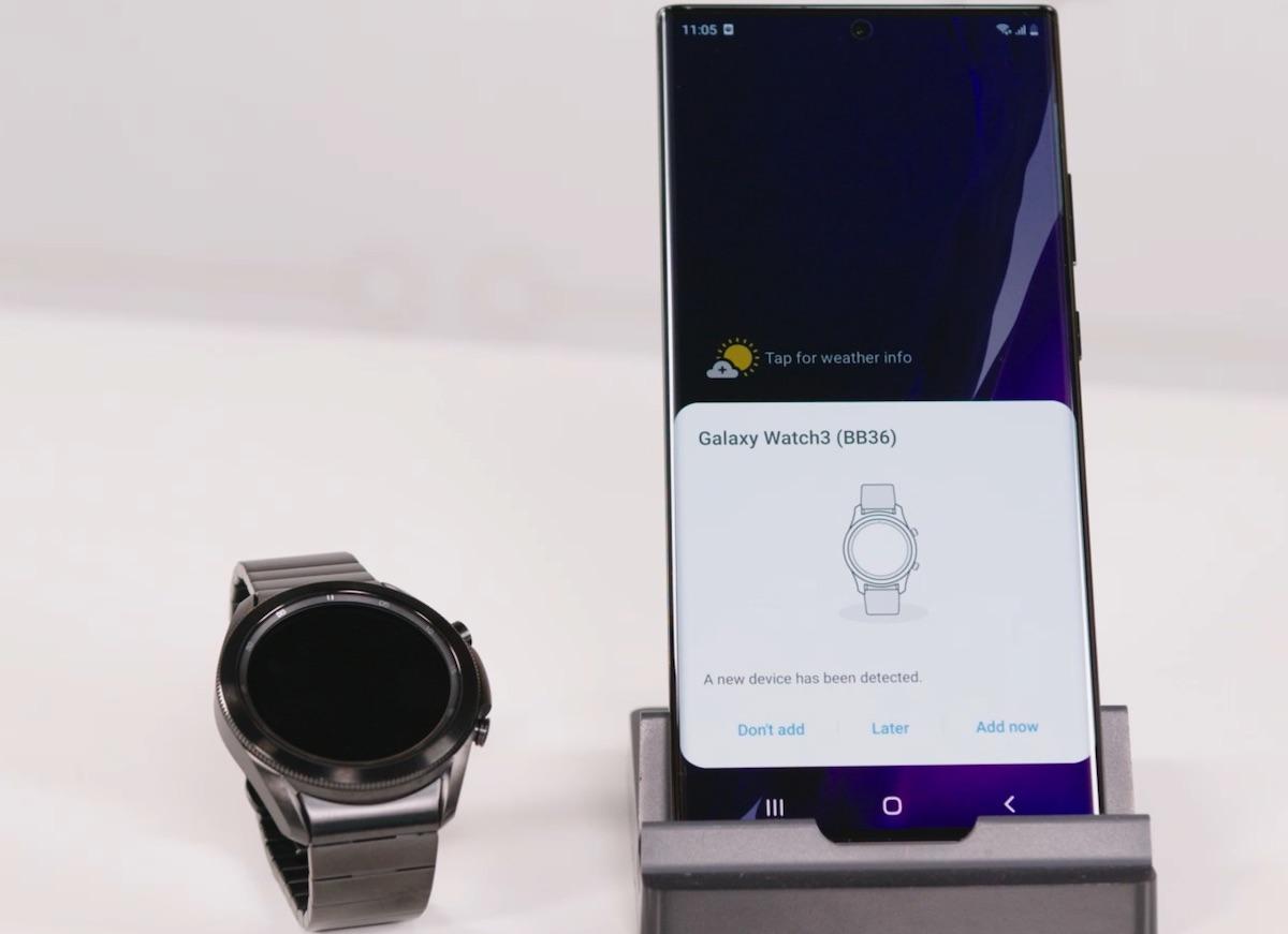 Galaxy Watch 3 Titanium cu Note 20 Ultra