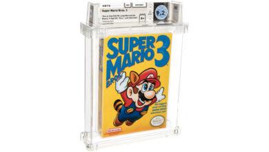 Photo of Un exemplar din Super Mario Bros. 3 este vandut pentru 156 de mii de dolari