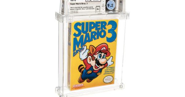 Un exemplar din Super Mario Bros. 3 este vandut pentru 156 de mii de dolari