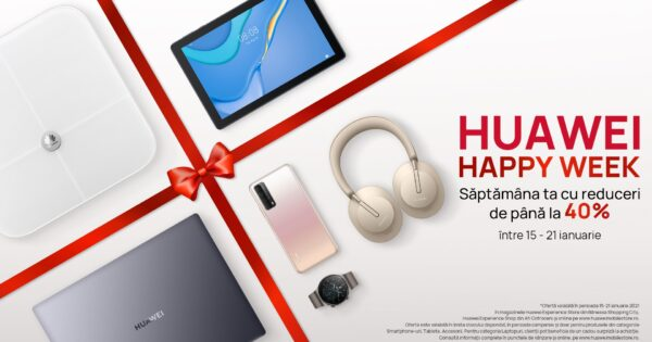 Huawei Happy Week vine cu reduceri și oferte speciale
