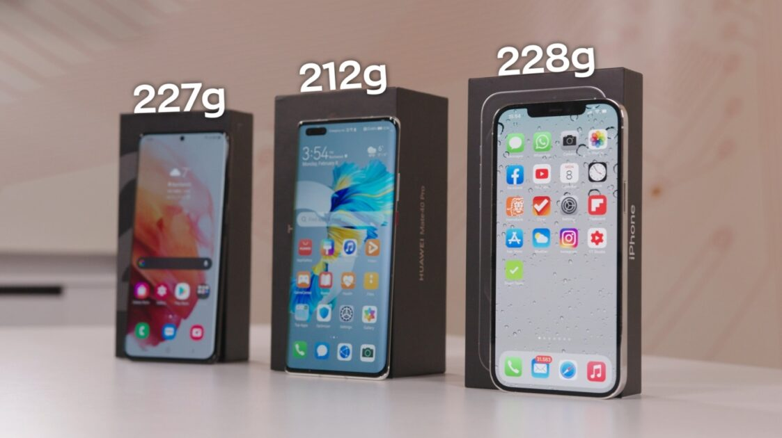greutate telefoane de top