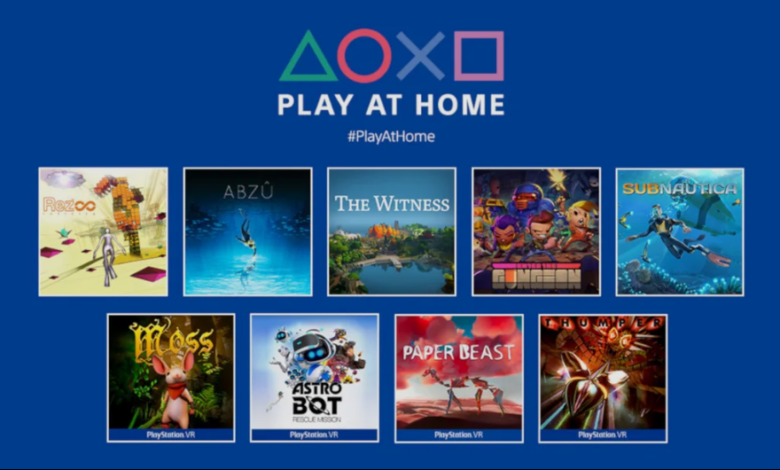 Play at Home 2021 jocuri gratis PlayStation Sony