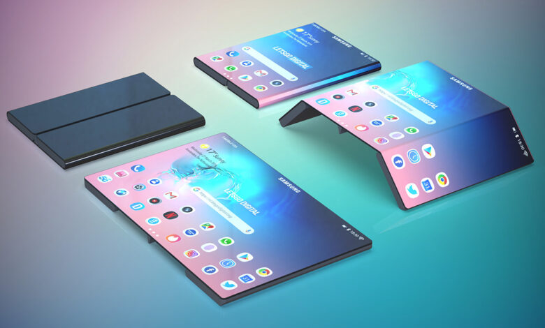 Samsung smartphone double-folding
