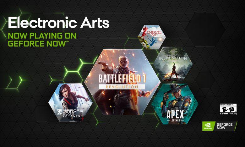 GeForce NOW jocuri Electronic Arts